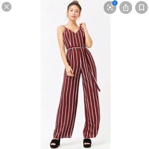 Forever21 stripped cami jumpsuit